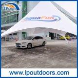 イベントのための屋外の二重ピーク白PVCおおいの星の陰のくものテント