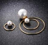 Orecchino geometrico irregolare della perla dell'acciaio inossidabile dei monili di figura