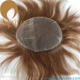 Full Swiss Lace Brazilian Remy cabelo humano Mens Toupee