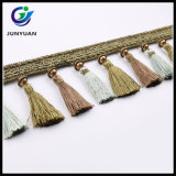 Guarnições da franja do Tassel da tela de China para a cortina decorativa