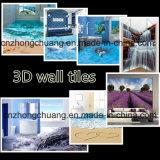 유리제 아크릴 또는 도기 타일을%s 3D 벽 디자인 UV 평상형 트레일러 인쇄 기계