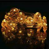 Мигающего огня 3V Glimmer желтой тыквы украшая Fairy