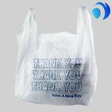 Sac en plastique de T-shirt de transporteur d'achats de HDPE