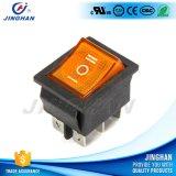 Inverseur à rappel auto-bloqueur de bouton poussoir de couleur de Pin de la qualité Kcd4-101/N 6