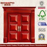 Entrée principale en bois solide de porte extérieure de 6 panneaux (GSP1-024)
