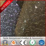 새로운 디자인 악어 패턴 최신 판매 Factroy 도매 PVC 합성 물질 가죽