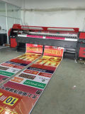 impressora interna industrial do anúncio ao ar livre de /Vinyl /Sticker da bandeira do cabo flexível do PVC do formato de 3.2m Konica 512I 30pl grande