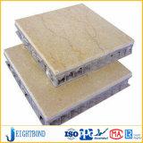 La piedra caliza natural hizo frente al panel de aluminio del compuesto del panal