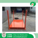 Cremalheira de empilhamento de aço dobrável personalizada para bens do armazenamento