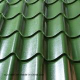 Folha do telhado da folha da corrugação de China única que faz o rolo da máquina que faz a única telhadura folha ondulada do zinco