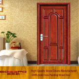Pintar a cor Swing Open Style Single Leaf Wooden Door (GSP2-021)