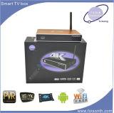 Rectángulo androide de la tapa del aparato de TV, Rectángulo androide de Amlogic F8 TV de la base del patio, rectángulo elegante de 4k IPTV