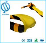 Protecteur noir et jaune de mur d'unité centrale