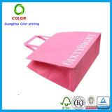 Bolso de compras rosado promocional del paño de Resuable del color