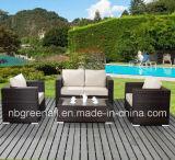 Meubles de bâti de rotin et d'aluminium de PE, sofa extérieur de rotin