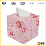 Caixa de couro luxuosa do tecido do plutônio da forma com logotipo personalizado