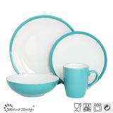 Di alta qualità 16PCS 20PCS gres solido colori vetro Insieme di pranzo