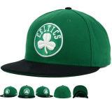Chapeau vert neuf de Snapback de basket-ball de coton avec le logo de DIY