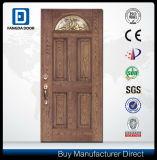 Porte en bois principale porte en verre en fibre de verre