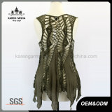 Sleeveless Handknited Slip Chiffon der Dame Kleid