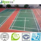 Гибкий настил Badminton полиуретана для основания асфальта