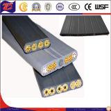 Cable de cobre del conductor de alimentación del alambre plano