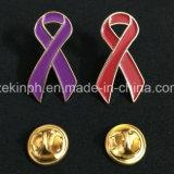Insigne simple en métal de Pin de revers d'HIV