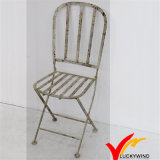 French Country Round Sitting Iron Antique Folding Garden Chairs