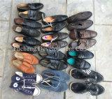 Экспорт к размеру рынка Африки большому использовал ботинки оптом, используемые ботинки спорта кожи Mens
