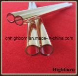 Hitzebeständigkeit-GoldCoatd Doppelquarz-Glasgefäß-Rohr
