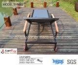 O GV Certificated o Lounger ajustável de Textilene Sun da praia ao ar livre da associação