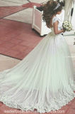 Арабское платье венчания B2058 шнурка мантии шарика Tulle многоточий мантий Дубай Bridal