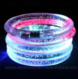 Logo Printed (4019)를 가진 LED Light Flashing Blinking Bracelets