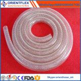 Mangueira reforçada flexível do alimento do fio de aço do PVC