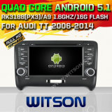 Carro DVD do Android 5.1 de Witson para Audi Tt 2006-2014 com sustentação do Internet DVR da ROM WiFi 3G do chipset 1080P 16g (A5525)
