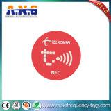 13.56MHz etiqueta pequena do animal de estimação NFC com a antena de alumínio gravura a água-forte