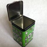 Quadratischer Zinn-Kasten mit Verschluss-und Schlüssel-Paket-Zinn-Quadrat mit Zinn
