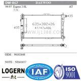 Radiateur mécanique du véhicule Dw-019 pour Daewoo Matiz 0.8l'98-00 à