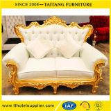 Silla de lujo europea del trono de la silla de la sala de estar de los sofás del asiento de amor del sofá