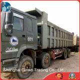 Carro de descarga usado Sinotruck chino de la Tapa-Marca de fábrica 8*4/12wheels-Walking HOWO para la explotación minera