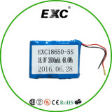 18650 bloco personalizado da bateria recarregável de 5s 18V 48.6wh com conetor