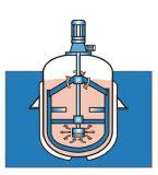 Depósito de fermentación/reactor Agitated vestido