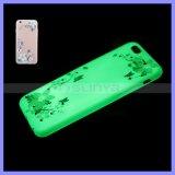 Super dünner weicher TPU blinkender leuchtender klassischer Sprung-Blumen-Basisrecheneinheits-Fall für iPhone 6 6s 5 Plus