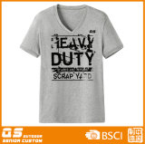 T-shirt courant à séchage rapide du V-Collet des hommes