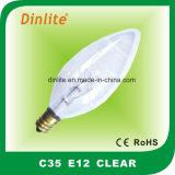 C35は蝋燭の白熱球根を取り除く