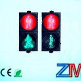 Красная & зеленая динамическая лампа островка безопасност света движения пешеходов/СИД проблескивая для пешехода