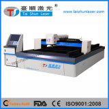 Découpage de machine de découpage de laser de Wuhan pour la plaque signalétique en métal