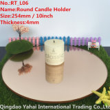 4mm Large Round Leuchte-braunes Glass Candle Holder