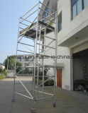Tour d'échafaudage en aluminium qualifiée par GV sûre pour la construction