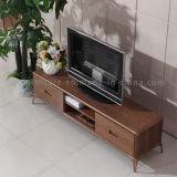 Moderner Wohnzimmer-neuer Entwurf MDF-Spitzenholz Fernsehapparat-Schrank